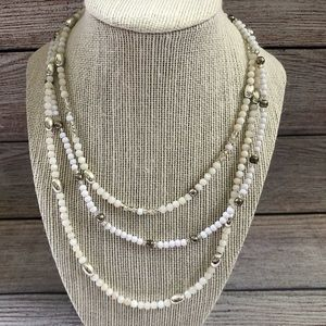 Elegant White beaded Necklace